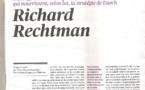 ARTICLE DE RICHARD RECHTMAN TÉLÉRAMA  DU 30/07/2016 AU 05/08/2016