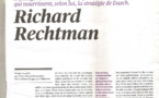 ARTICLE DE RICHARD RECHTMAN TÉLÉRAMA  DU 30/07/2016 AU 05/08/2016
